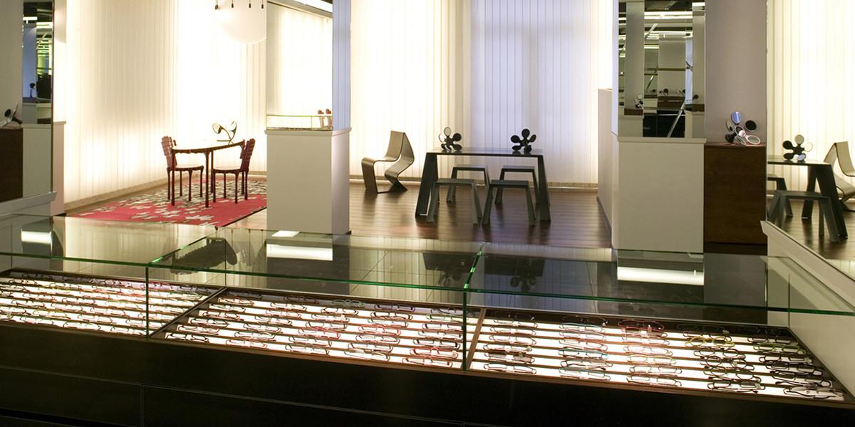 intérieur de Hoet Optique Bruxelles